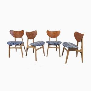 Butterfly Esszimmerstühle von G Plan, 1950er, 4er Set