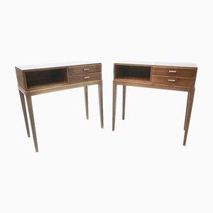 Tables de Chevet 1615A Vintage par Frits Schlegel pour Fritz Hansen, Set de 2