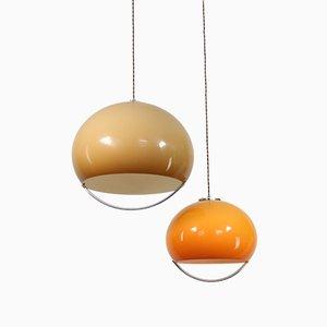 Lámparas colgantes Jolly era espacial de Guzzini. Juego de 2