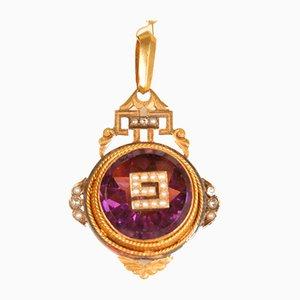 Antikes viktorianisches Gelbgold-Medaillon