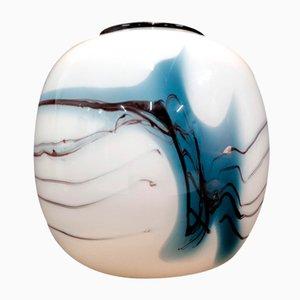 Glas Atlantis Vase von Michael Bang für Holmegaard, 1981