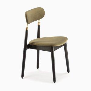 7.1 Stuhl in Grünem Velours von Nikita Bukoros für Emko