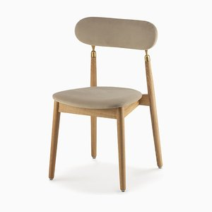 7.1 Chair in Beige Velour by Nikita Bukoros for Emko