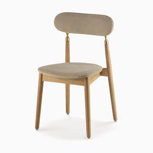 7.1 Stuhl in Beigem Velours von Nikita Bukoros für Emko