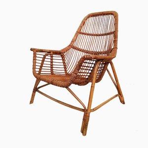 Italian Wicker Armchairs by George Coslin for Gervasoni, Set of 2