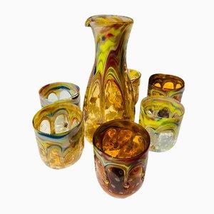 Italienisches Vintage Murano Glasgeschirr, 7er Set