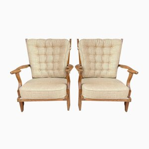 Armchairs from Guillerme et Chambron, 1950s, Set of 2