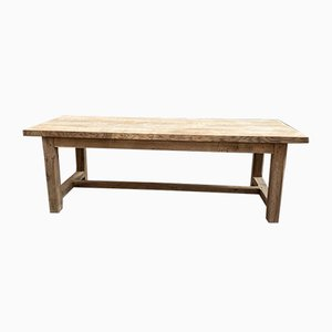 Tavolo e panche da fattoria in quercia, set di 3