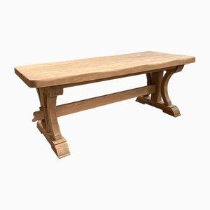 Tavolo da fattoria in legno di quercia massiccio