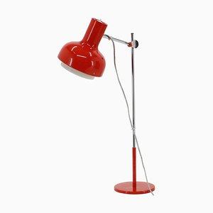 Lámpara de escritorio roja de Josef Hurka, años 60