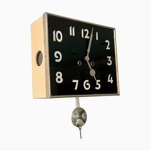 Reloj de pared Art Déco de Kienzle, Czechoslovakia