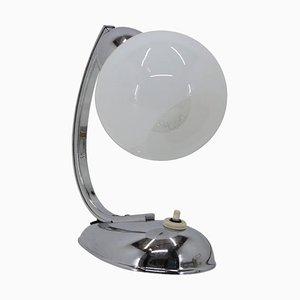 Verchromte Tischlampe, Tschechoslowakei, 1950er
