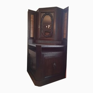 Mueble esquinero de finales del siglo XIX