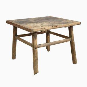 Antique Elm Lamp Table