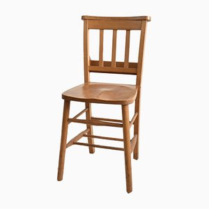 Vintage Beech Chapel Chair