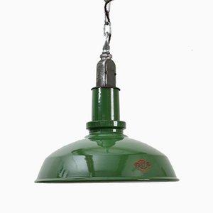 Lámpara colgante industrial Thorlux en verde