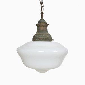 Antique Church Opaline Pendant Light