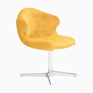 Alster Yellow Velvet Swivel Chair by Emmanuel Dietrich for Ligne Roset, 2011