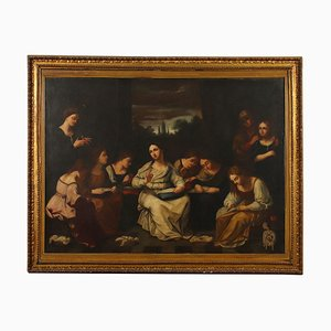 The Sewing School, Oil on Canvas, 19th Century