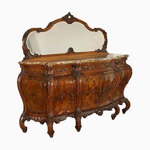 Mobiletto con specchio in stile Barchetto