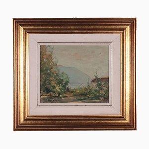 Landscape, Raul Viviani, Oil on Cardboard