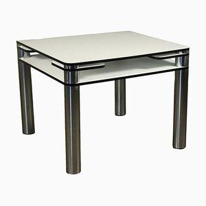 Tavolo da gioco in metallo cromato e formica di Joe Colombo, anni '70