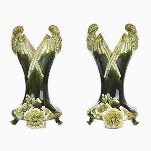 Ceramic Vases, 1880s, Set of 2
