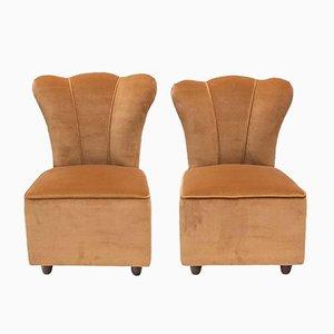Italian Design Side Chairs, 1950s, Set of 2
