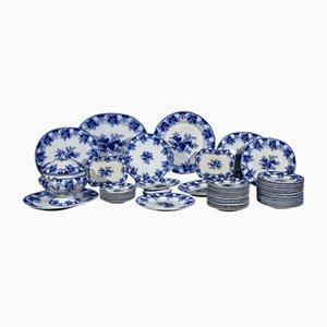 Weißer und blauer Tischservice