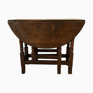 Table Gateleg Antique en Chêne, 18ème Siècle