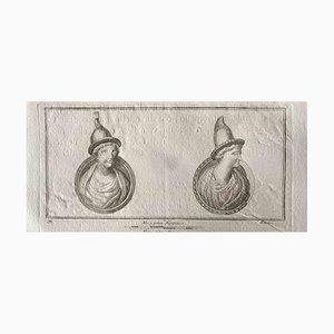 Verschiedene Alte Meister, Großbuchstabe, Radierung, 1750er