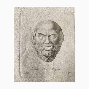 Various Old Masters, Roman Head, Etching, 1750s