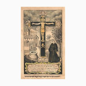 Eliane Petit, St. Francis and the Crucifix, Lithograph, Carlo Verdon, 1850s