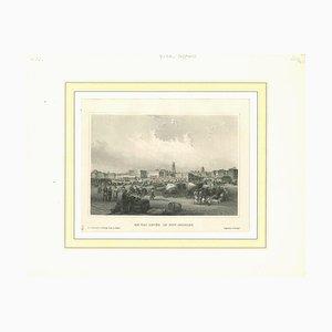 Desconocido, Am Kai in New Orleans, Litografía, mediados del siglo XIX