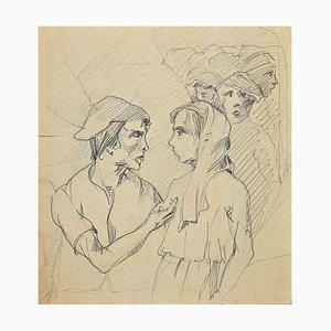 Unbekannt, Bühnenschauspieler, Federzeichnung, 1920er