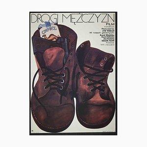 Unknown, Mezczyzn Road Poster, Vintage Offset Print, 1973