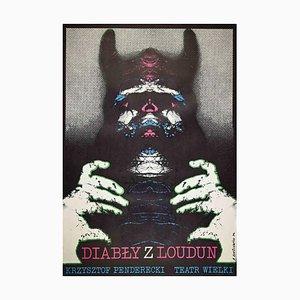 Unknown, Diably Z Loudun Poster, Vintage Offset Print, 1974