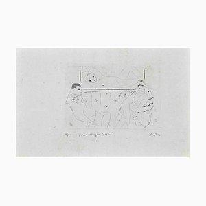 Marcel Vertès, sala de espera, aguafuerte y punta seca, 1920