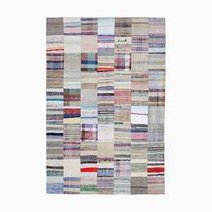 Mehrfarbiger Kelim Patchwork Teppich