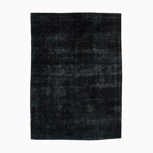 Schwarzer Überfärbter Großer Teppich