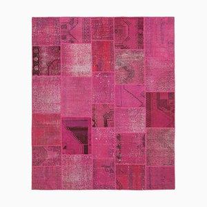 Pinker Patchwork Teppich