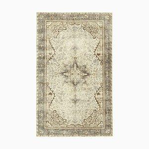 Beige Türkischer Vintage Teppich