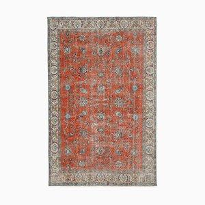 Roter türkischer Vintage Teppich