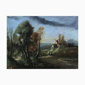 Maurice Dupuis, Scena di vita in campagna ai piedi del mulino, 1946