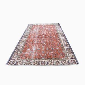 Vintage Turkish Red Wool Rug