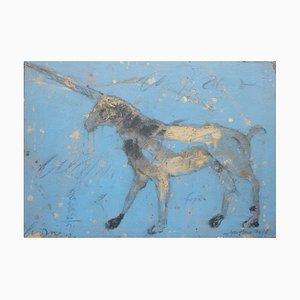 Kleines blaues Einhorn von Alexis Gorodine