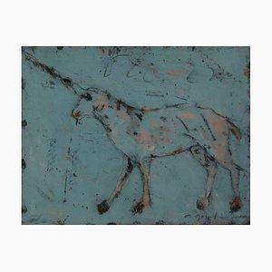 Unicorno blu di Alexis Gorodine