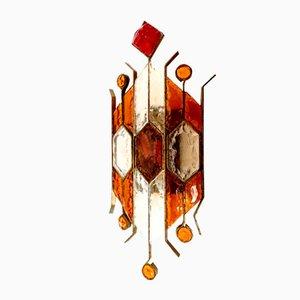 Applique Murale Simple en Verre de Murano de Longobard