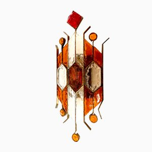 Single Murano Glas Wandlampe von Longobard