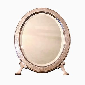 Large Hammered Silver Metal Table Mirror from Christofle, 1880s